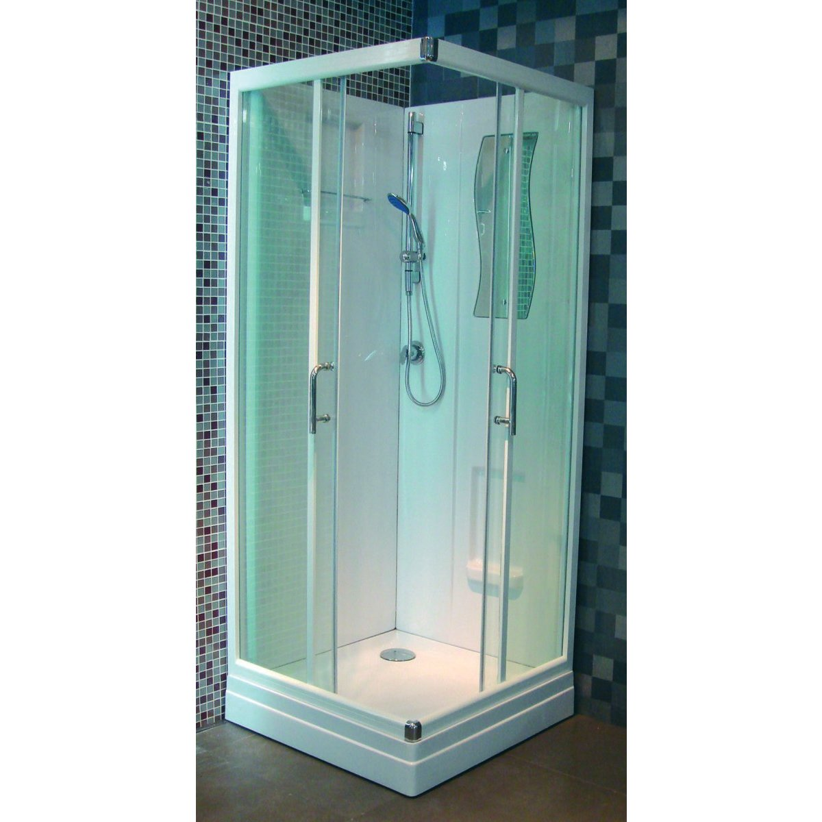 cabine de douche concerto 90 x 90 cm acc s d 39 angle porte coulissante. Black Bedroom Furniture Sets. Home Design Ideas